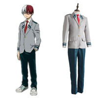 My Hero Academia Midoriya Izuku Bakugou Katsuki School Uniform Cosplay Costume
