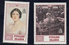 Le isole Pitcairns:1990 Q materno Compleanno Set sg378-9 Unmounted MINT