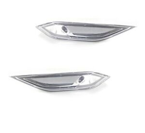 2x Side Fender Repeater Lamp Light Clear Marker For Porsche Cayenne 2011-2014