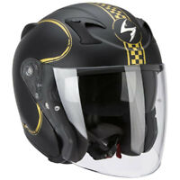 casque casco helmet JET SCORPION EXO 220 NOIR BIXBY taille M 57 58