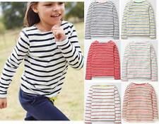 Mini Boden girls cotton stripe Breton top shirt  white red blue multi age 1-16