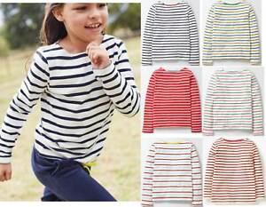 Mini Boden top Breton girls cotton stripe shirt white red blue multi age 1-12