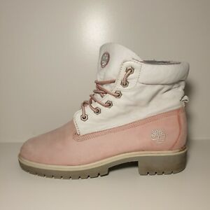 Timberlands Womans Size Uk 6 Eur 39 Pink And White