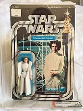 Vintage Star Wars AFA 75 12 Back-C Princess Leia Organa UNPUNCHED CLEAR BUBBLE