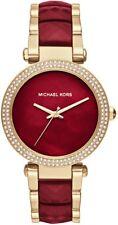 Michael Kors MK6427 Parker Gold-Tone and Garnet Acetate Bracelet