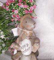 Vintage  Osterhase Osterhase Happy Easter.. 8cm Ostern Shabby Chic Deko Landhaus