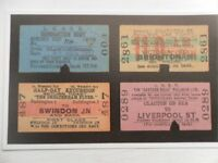 POSTCARD RAIL TICKETS FOR EVERYTHING - NAMED TRAINS
