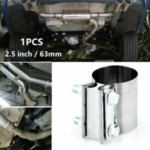 Modification StainlessSteel 2.5inch 63mm Car Exhaust Pipe Clamp Tip Hoop Fitting