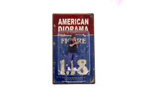 "Car Meet 1 1:18 Scale American Diorama Figurine Figure VI Man Guy Male 4"""