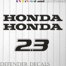 Honda 2.3 hp Four Stroke newest outboard engine decal sticker set reproduction