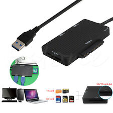 USB 3.0 to SATA 3.0 III SD TF Micro SD Card Reader HUB Adapter HDD SSD 5.0Gbps