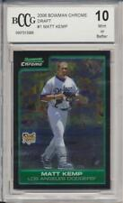 2006 Bowman Draft Chrome Matt Kemp RC Rookie BGS/BCCG 10 Los Angeles Dodgers