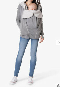 Seraphine Connor 3-in-1 Maternity Hoodie, Grey/marl Uk Size S