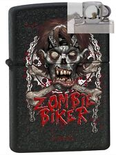 Zippo 12736 zombie biker Lighter with PIPE INSERT PL
