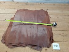 Brown Pig Italian Leather w. Shiny Dots 1mm Thick Hide Quality Genuine Pig EB16