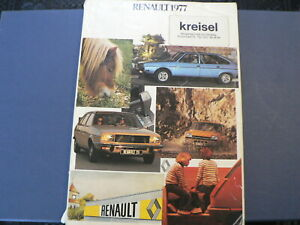 RENAULT 1977 BOOK WITH ALL MODELS RENAULT TYPES SAVIEM,ESTAFETTE,