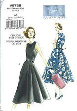 VINTAGE VOGUE 8788 SEWING PATTERN 1954 DESIGN WRAP DRESS SZ A5 6-14 NEW UNCUT