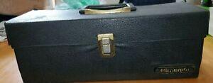 Vintage Original NES 15Game  Cartridge Storage Carrying Case Black Leather