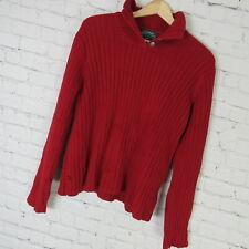Ralph Lauren PM Sweater Womens Red Knit Heavy