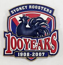 SYDNEY ROOSTERS NRL CENTENARY 1908-2007 100 YEARS RUBBER FRIDGE MAGNET