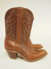 """1980s Vintage Leather Pee Wee 10"""" Western Fashion-heel Boots 6.5 M"""