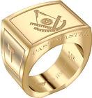 Mens Past Master 14k Yellow or White Gold Freemason Masonic Ring Sizes 8 to 14