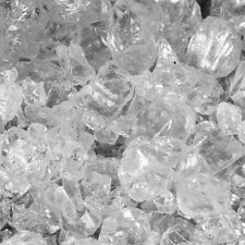 """40 LB Clear Fireglass for Fire pits and Fireplace 1/4"""" Crushed Glass"""