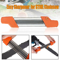 NEW 2in1 3/8''p 4.0mm For STIHL Q1A6K Easy Chainsaw Chain File Sharpener