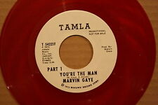 MARVIN GAYE **YOU'RE THE MAN** Motown Soul 45 on TAMLA 54221 PROMO RED VINYL