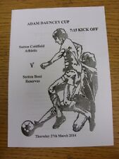 27/03/2014 Sutton Sunday League Adam Dauncey Cup Final: Sutton Coldfield Athleti