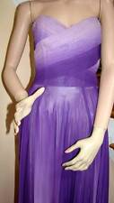 Vintage 1960's EMIL OTTO Purple/Lilac Ombre Strapless Gown 2-4
