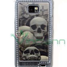 Custodia cover 4D per Samsung i9100 GALAXY S2 SII teschio Halloween teschi skull