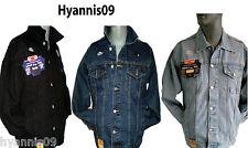 Aztec Denim Jeans jackets Stonewash Lightwash Black Casual Jeans Jacket S to 4XL