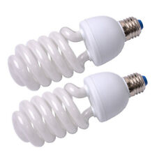 2x 45W 5500K E27 Fluorescent Lamp Energy Saving Day Light Bulbs for Photo Studio