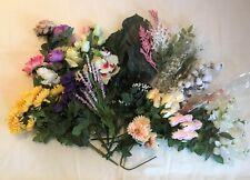 MIXED LOT OF UNUSED SILK FLOWERS