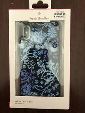 Vera Bradley Blue Floral Quilted Phone Case for iPhone X iPhone XS