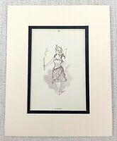 1889 Antico Stampa Fairy Costume Vittoriano Costume Abito Merry Wives Of Windsor