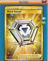 DIGITAL Metal saucer Secret Rare  Pokemon tcg ONLINE