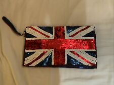 Next Sequin Union Jack Flag Clutch Bag