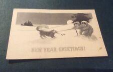 Vintage Paper Ephemera, Postcard, New Year Greetings