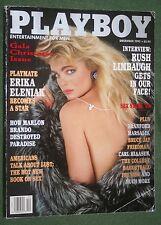 Playboy Dec 1993 POM Arlene Baxter Erika Eleniak Brando Rush Limbaugh interview