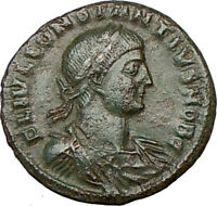 CONSTANTIUS II Constantine  the Great son Ancient Roman Coin Camp GATE i18407