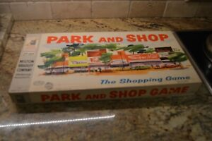 Vintage 1960 Milton Bradley Park and Shop Board Game Cars/People/Cards/Cash EUC