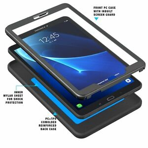 For Samsung Galaxy Tab A 10.1 Case Poetic Shockproof TPU Cover-【Revolution】Black