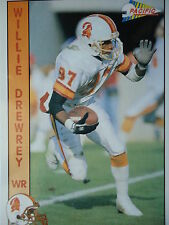 NFL 634 Willie Drewrey WR Wide Receiver Pacific 1992