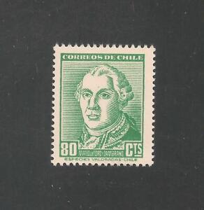 Chile #268 (A127) VF MINT VLH - 1953 80c Mateo de Toro Zambrano