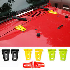 RED ABS Auto Engine Hood Hinge Cover Trim Accessories for Jeep Wrangler 2007-16