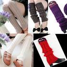 Leg Warmers Women Knee High Knit Crochet Leggings Boot Socks Slouch Winter NEW