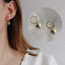 Dangle Party Boho Jewelry Gift Fashion Women Gold Tiny Heart Hoop Earrings Drop