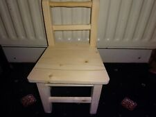 Toddler Wooden Chair, 100% Wood, Handmade to Perfection. Strong and Fun, Natural